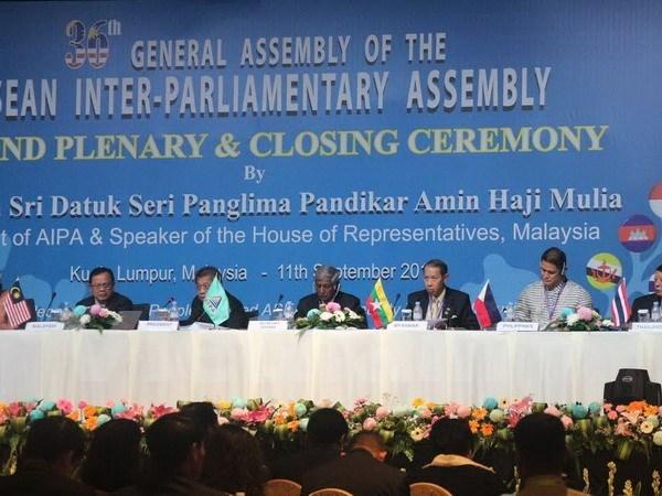 AIPA–36, reunion interparlamentaria por intereses de pueblos de ASEAN hinh anh 1