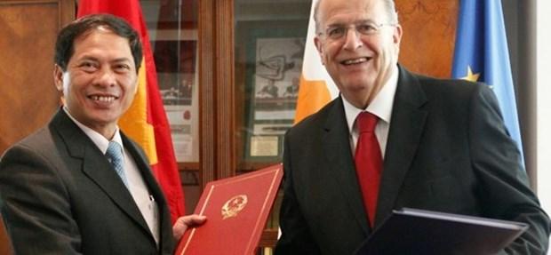 Vietnam y Chipre fomentan cooperacion comercial e inversionista hinh anh 1