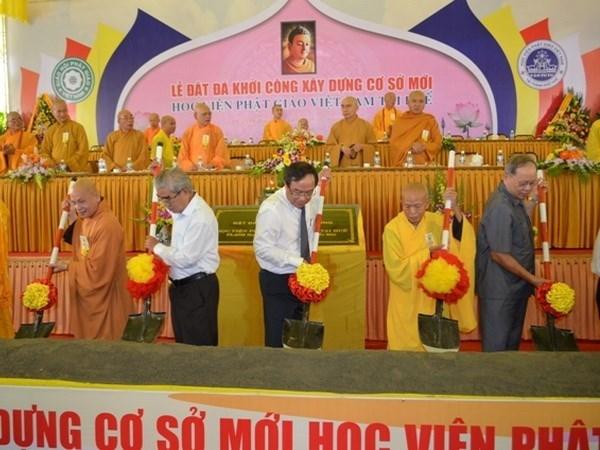 Inician construccion de Academia Budista de Vietnam en Hue hinh anh 1