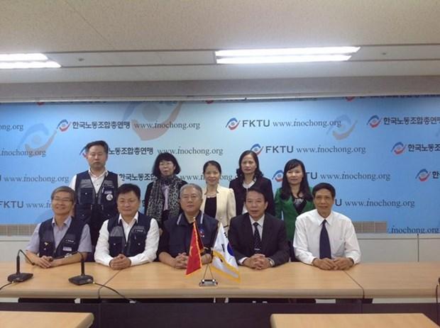 Vietnam y Sudcorea incrementan intercambio sindical hinh anh 1