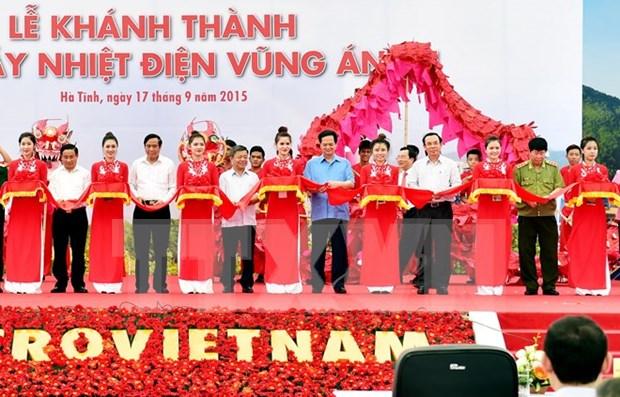 Inauguracion de termocentral Vung Ang es punto crucial, dijo premier hinh anh 1
