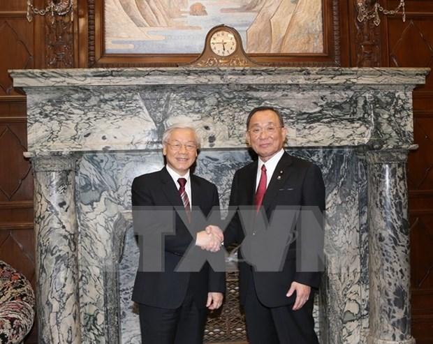 Secretario general del PCV continua agenda en Japon hinh anh 1