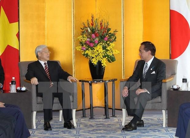 Dirigente partidista vietnamita continua actividades en Japon hinh anh 1