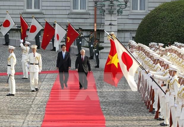 Lider partidista vietnamita concluye visita oficial en Japon hinh anh 1