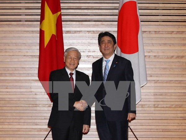 Visita de Phu Trong abre nueva perspectiva para lazos Vietnam-Japon hinh anh 1