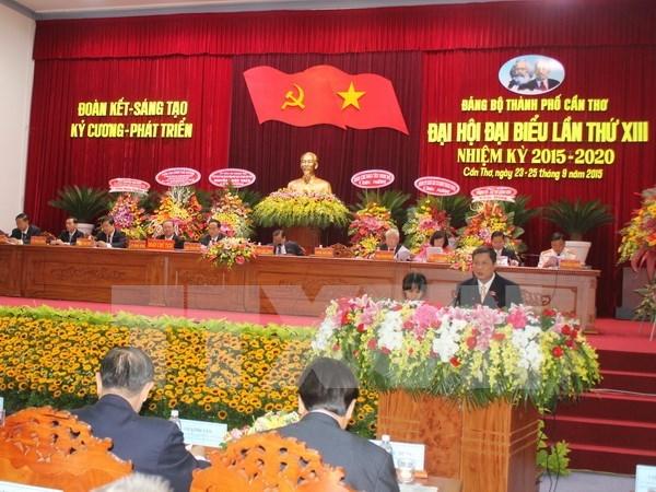 Sesionan asambleas partidistas en Can Tho y Bac Ninh hinh anh 1