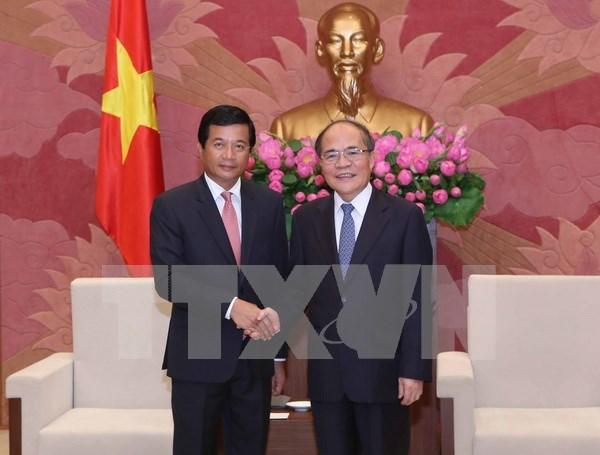 Fortalecen cooperacion parlamentaria entre Vietnam y Laos hinh anh 1