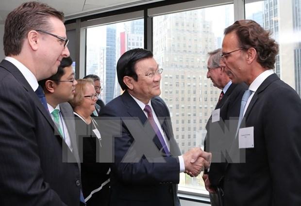Actividades del presidente vietnamita en marco de Cumbre de ONU hinh anh 2