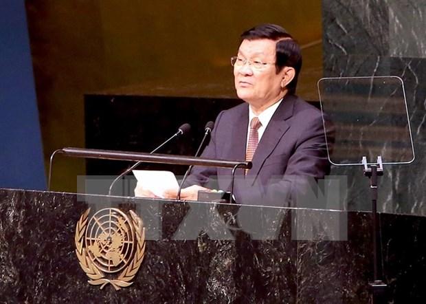 Ocupada agenda de presidente vietnamita al margen de Cumbre ONU hinh anh 1