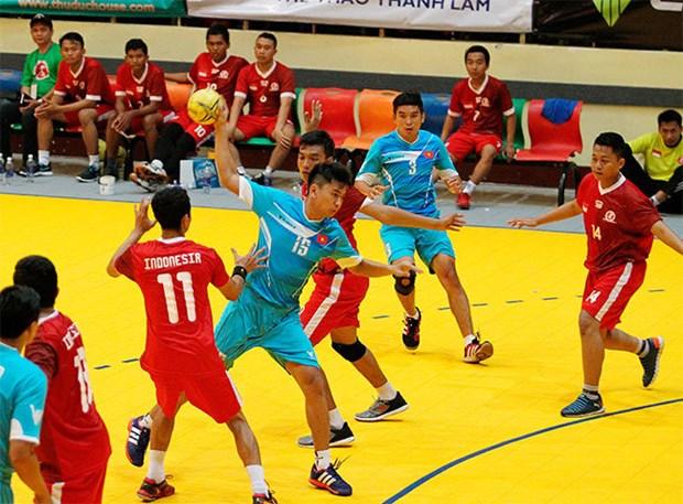 Gran triunfo de Vietnam en Torneo regional de Balonmano 2015 hinh anh 1