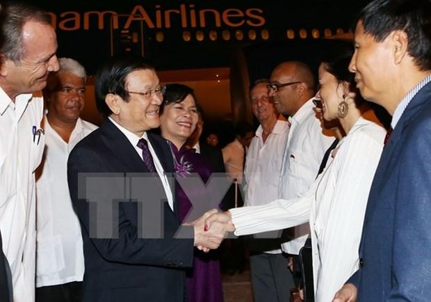 Presidente de Vietnam llega a Cuba en visita oficial hinh anh 1