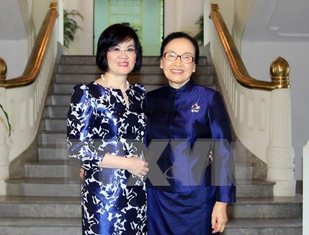 Refuerzan solidaridad mujeres vietnamitas y laosianas hinh anh 1