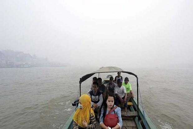 Indonesia suspende vuelos debido a incendios forestales hinh anh 1