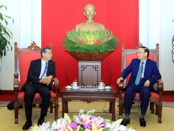 Dirigente partidista recibe a embajador japones hinh anh 1
