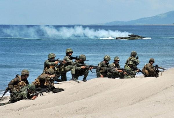 Realizan Filipinas y Estados Unidos ejercicio anfibio hinh anh 1