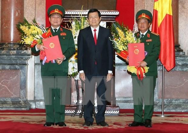 Ascienden a rango de general a dos jefes castrenses vietnamitas hinh anh 1