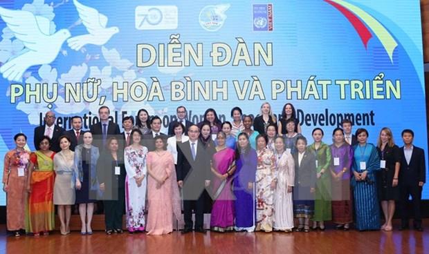 Celebran en Hanoi Foro internacional para empoderamiento de mujeres hinh anh 1