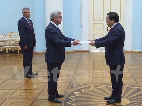 Concede Armenia gran importancia a relaciones con Vietnam hinh anh 1