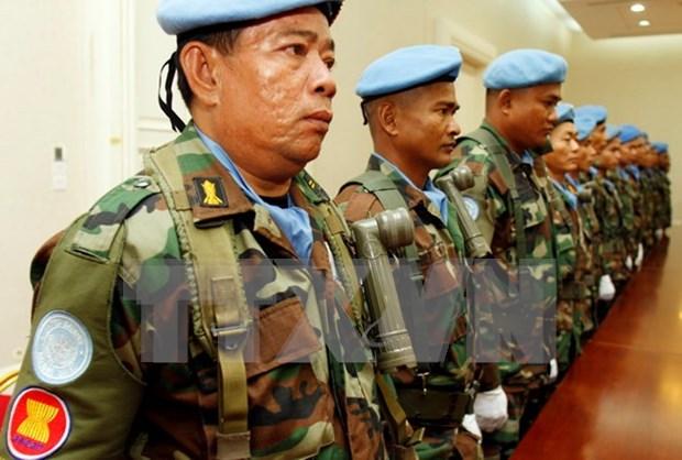 Intercambian experiencias funcionarios de fuerzas de paz de ASEAN hinh anh 1