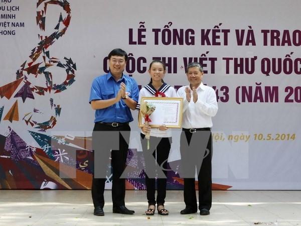 Vietnam convoca concurso de escritura de UPU 45 hinh anh 1