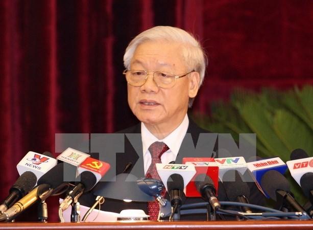 Clausuran pleno del Comite Central del Partido Comunista de Vietnam hinh anh 1