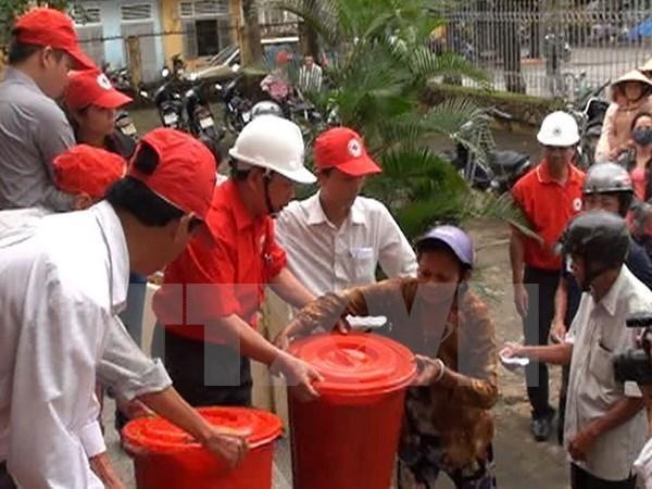 Ensayan en ciudades vietnamitas plan de prevencion contra desastres hinh anh 1