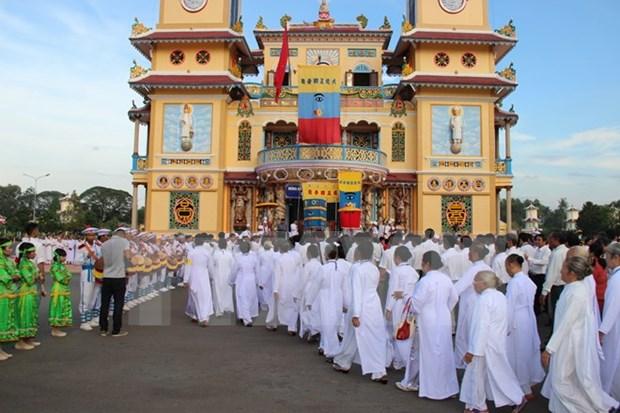 Secta caodaismo celebra aniversario 90 de fundacion hinh anh 1