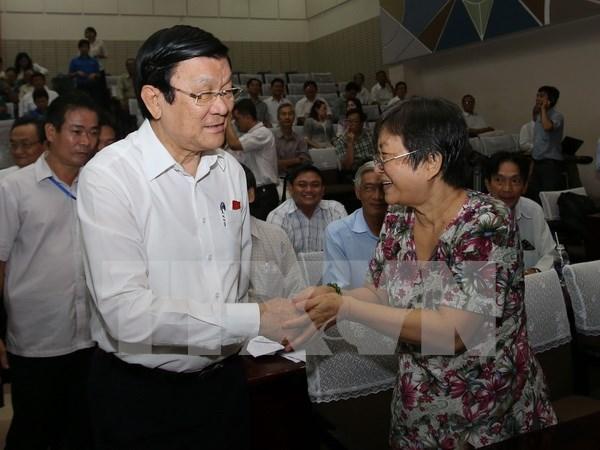 Presidente dialoga con votantes de Ciudad Ho Chi Minh hinh anh 1