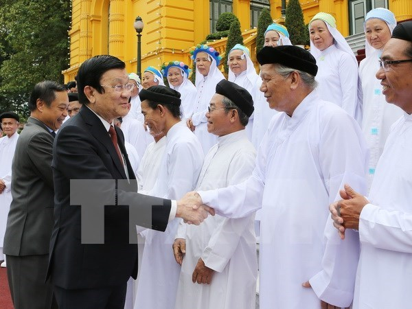 Presidente destaca aportes de Caodaismo a desarrollo nacional hinh anh 1