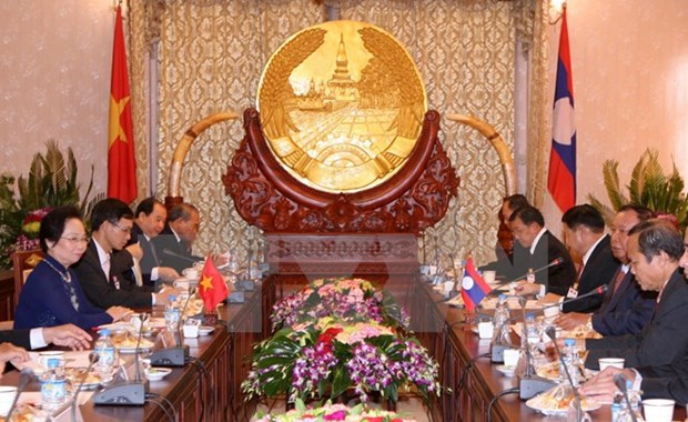 Vicepresidenta vietnamita realiza visita oficial a Laos hinh anh 1