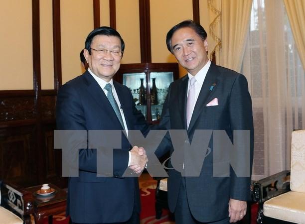 Presidente recibe a gobernador de prefectura japonesa de Kanagawa hinh anh 1