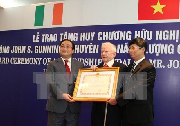 Vietnam concede Orden de amistad a experto irlandes de energia hinh anh 1