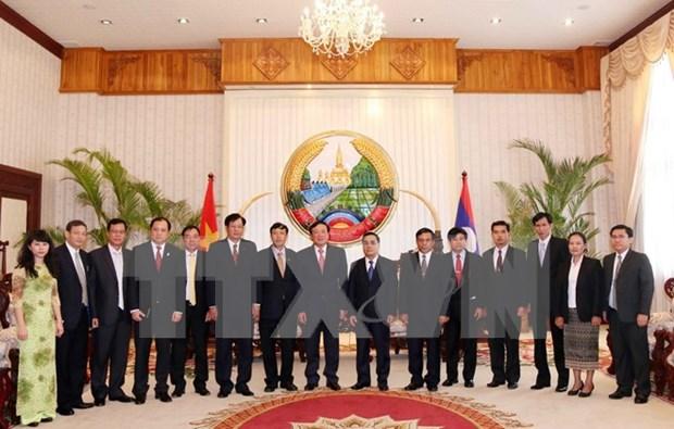 Premier laosiano saluda cooperacion judicial con Vietnam hinh anh 1