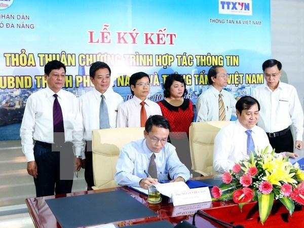 Rubrican VNA y Da Nang acuerdo de colaboracion informativa hinh anh 1
