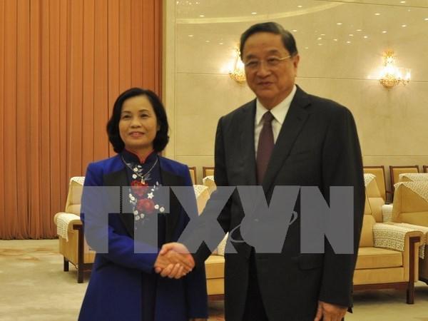 Organos de masas vietnamita y china robustecen nexos cooperativos hinh anh 1