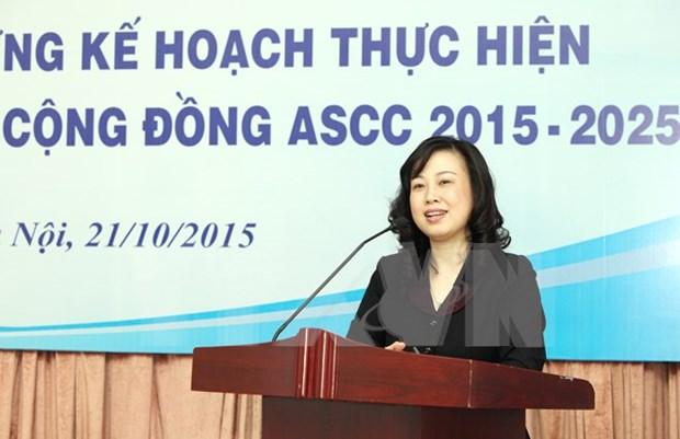 Disena Vietnam plan para cumplir objetivos de comunidad sociocultural hinh anh 1
