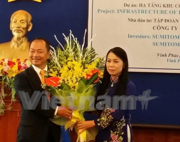 Grupo japones Sumitomo construira parque industrial en Vinh Phuc hinh anh 1