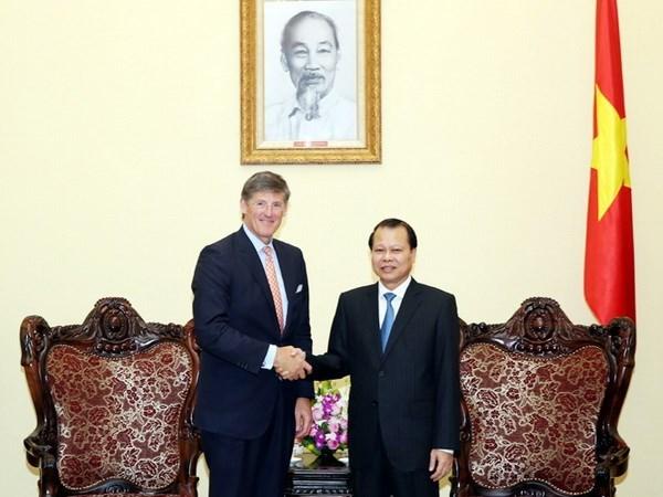 Viceprimer ministro vietnamita recibe a ejecutivo de Citigroup hinh anh 1