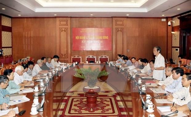 Inauguran decimosexto periodo de sesiones del Consejo Teorico del PCV hinh anh 1