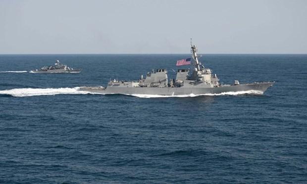 Destructor de EE.UU. patrulla en Mar Oriental hinh anh 1