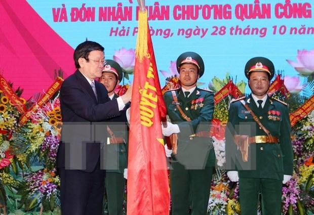 Presidente vietnamita elogia hazanas de las fuerzas armadas hinh anh 1