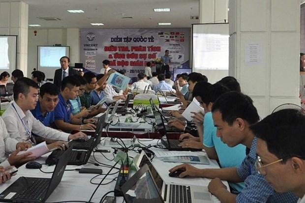 Vietnam participa en ensayo internacional de seguridad cibernetica hinh anh 1