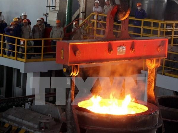Compania siderurgica de Cao Bang finaliza primer lote del acero hinh anh 1