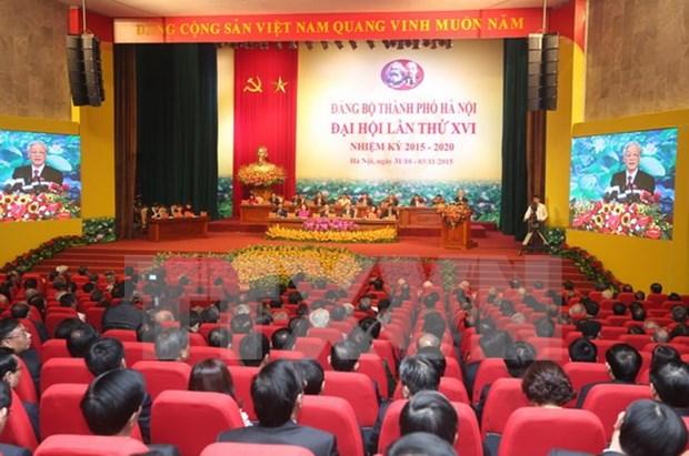 Inauguran XVI Asamblea del Comite partidista de Hanoi hinh anh 1