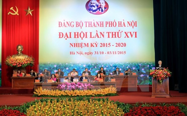 Asamblea partidista de Hanoi: cita de esperanza y convicciones hinh anh 1