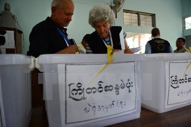 Mas de 10 mil observadores accederan a colegios electorales de Myanmar hinh anh 1
