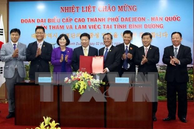 Localidades vietnamita y sudcoreana intensifican cooperacion hinh anh 1