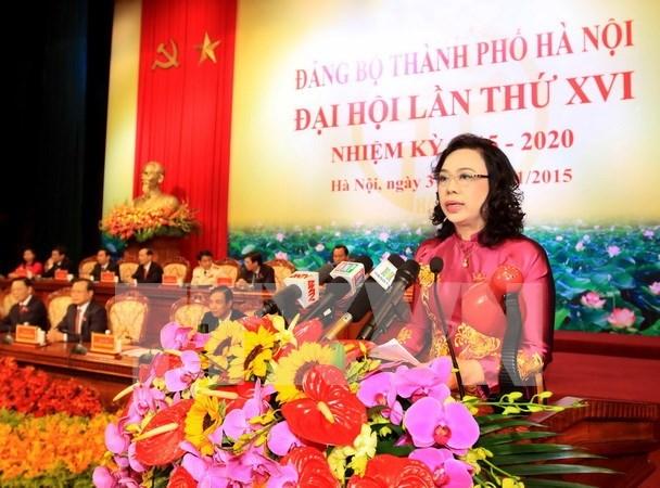 Clausuran XVI Asamblea partidista de Hanoi hinh anh 1