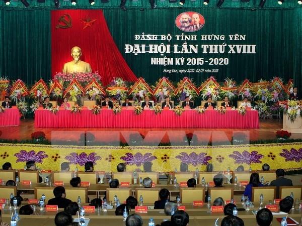 Asamblea partidista de Hung Yen traza metas del desarrollo hinh anh 1