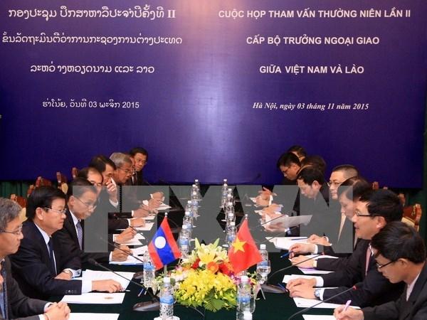 Cancillerias de Vietnam y Lao realizan segunda consulta hinh anh 1